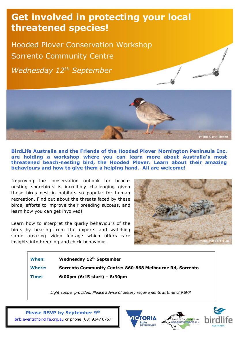MP Hooded Plover Training Workshop Sep 2018
